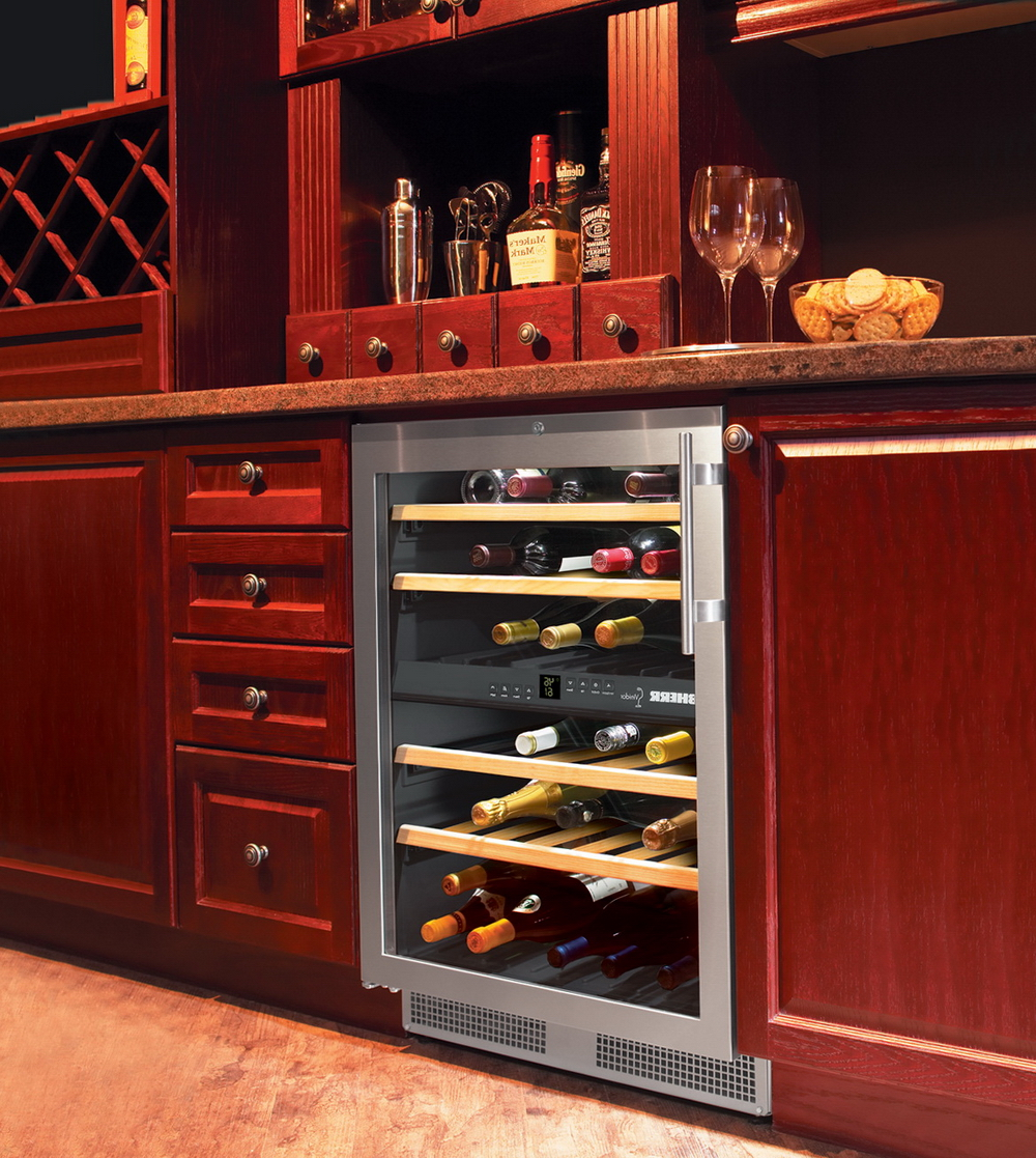 Wine Cooler In Kitchen Cabinet